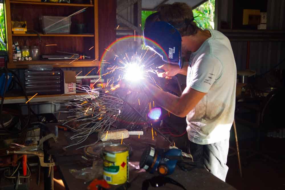 Pascal welding sculpture nautilus