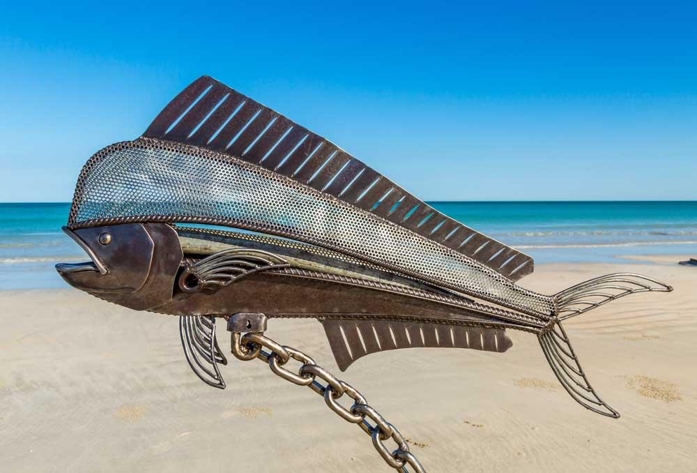 Dolphin Fish Sculpture